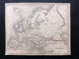 Chambers 1846 Antique Map. Europe
